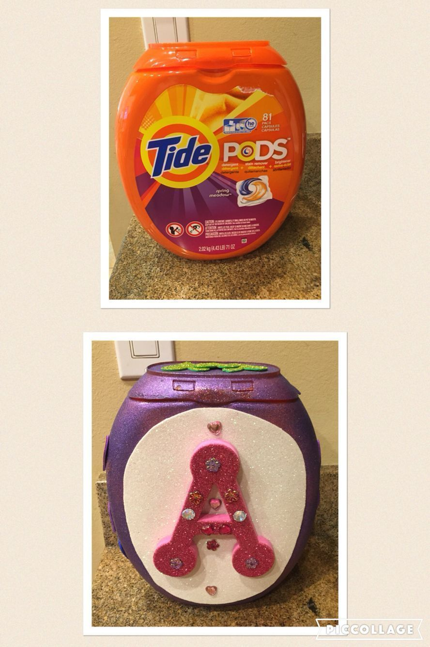 Valentine Mailbox from Tide Pod Container                                       ...#container #mailbox #pod #tide #valentine #tidepodscontainercrafts Valentine Mailbox from Tide Pod Container                                       ...#container #mailbox #pod #tide #valentine