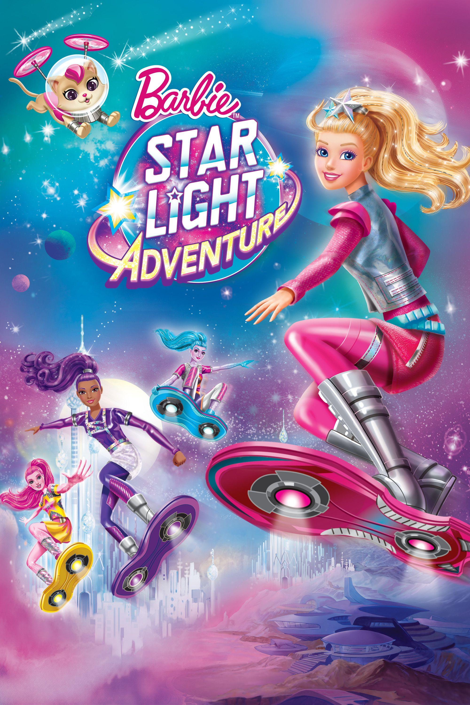 Barbie Star Light Adventure Movie Poster Erica Lindbeck Robbie Daymond Kimberly Woods B Barbie Aventura Nas Estrelas Filmes Da Barbie Filmes De Animacao