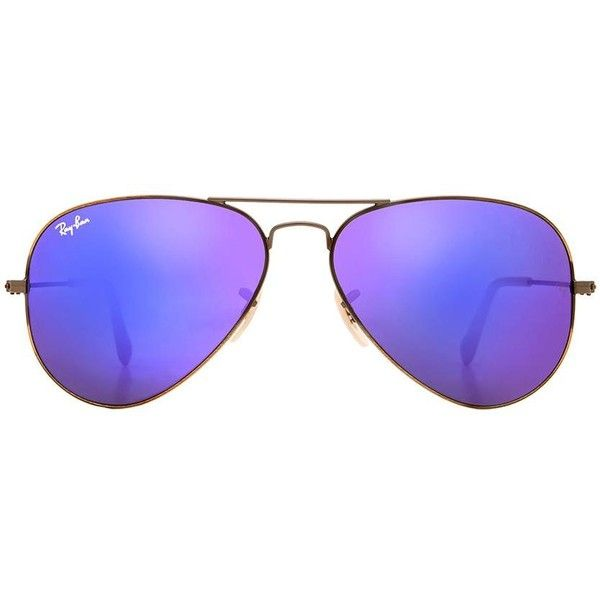 d7e56d2a2b Ray-Ban Aviator Flash Lenses ( 175) ❤ liked on Polyvore featuring  accessories