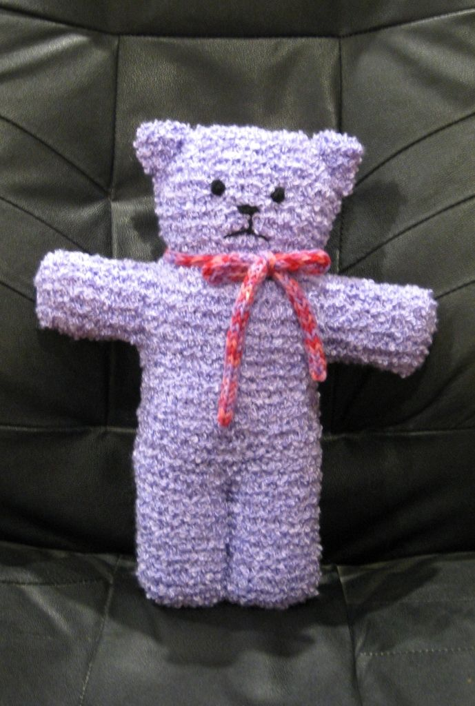 Easy knitted teddy (free pattern from here:http://www ...