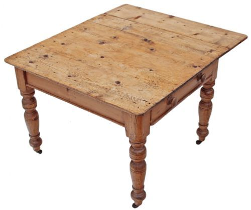victorian pine kitchen table scrub top extending | furniture and ...