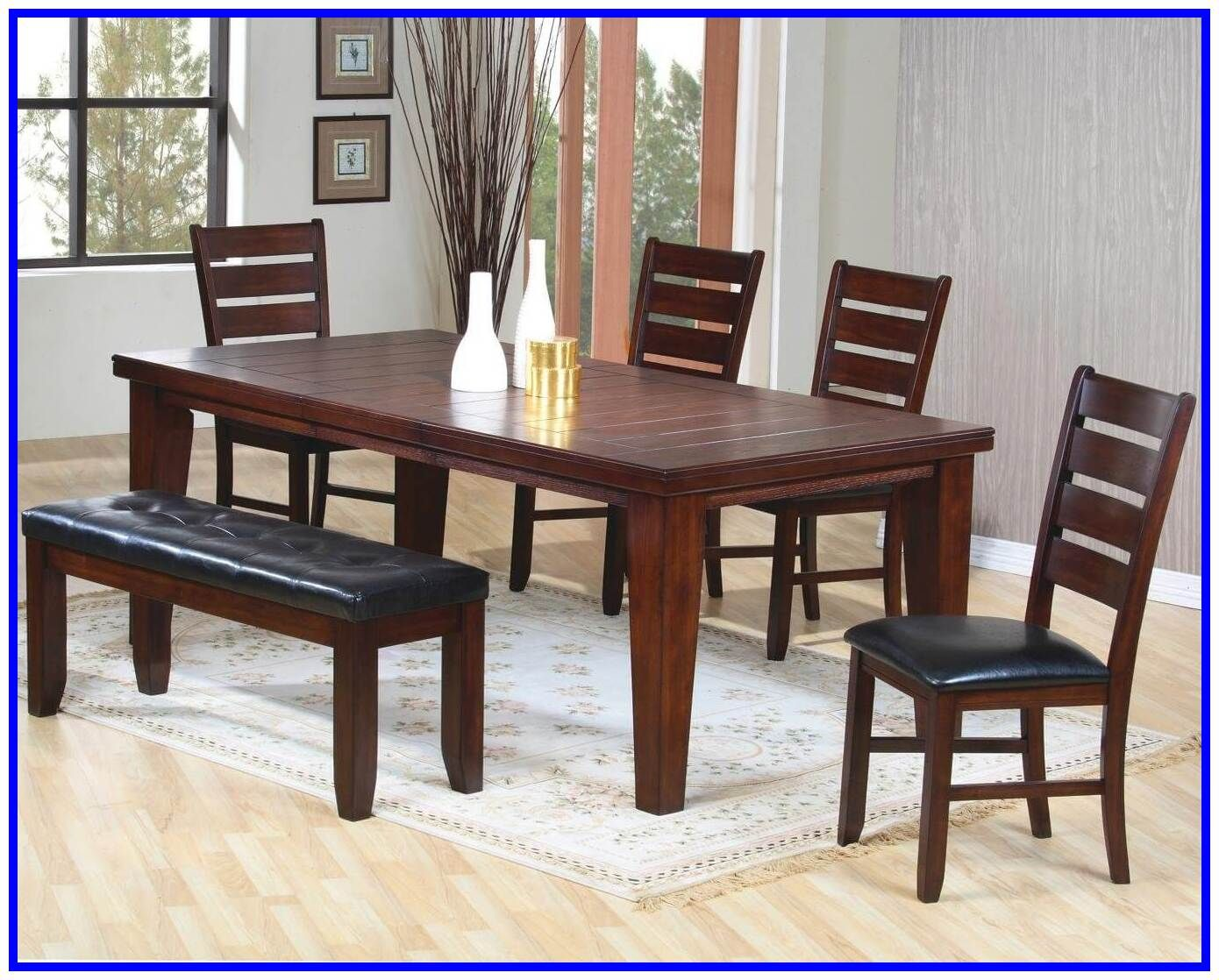 71 Reference Of Black Wood Dining Table Bench Dining Table With Bench Dark Wood Dining Room Set Dark Wood Dining Table