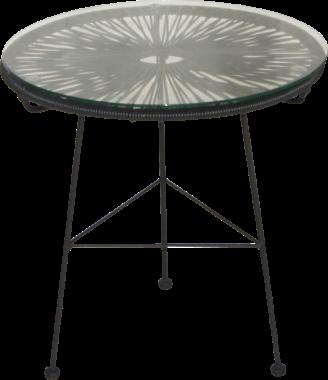 Table basse de jardin OVALY en fils d\'acier et de résine avec ...