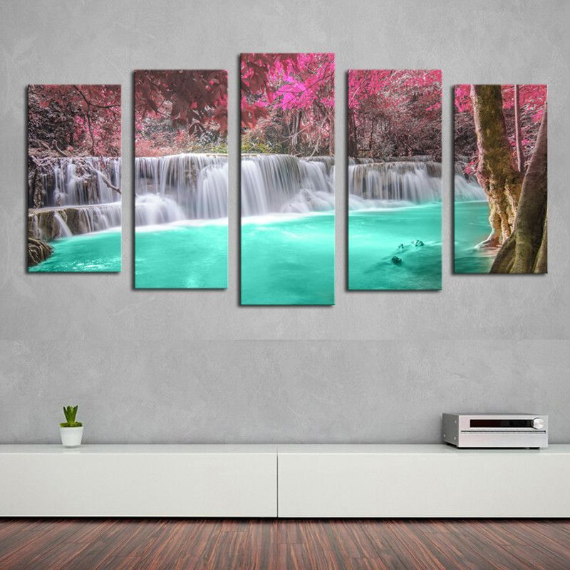 panel wall art seaside landscape painting sunset seascape canvas prints home decor picture for living room unframed lavori ai ferri pinterest also rh