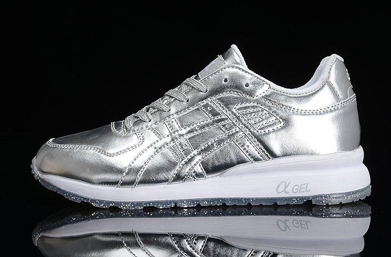 #womens #sneakers Asics Gel Liquid Silver Liquid Gold Metallic Grey Ice White new running shoes 2015
