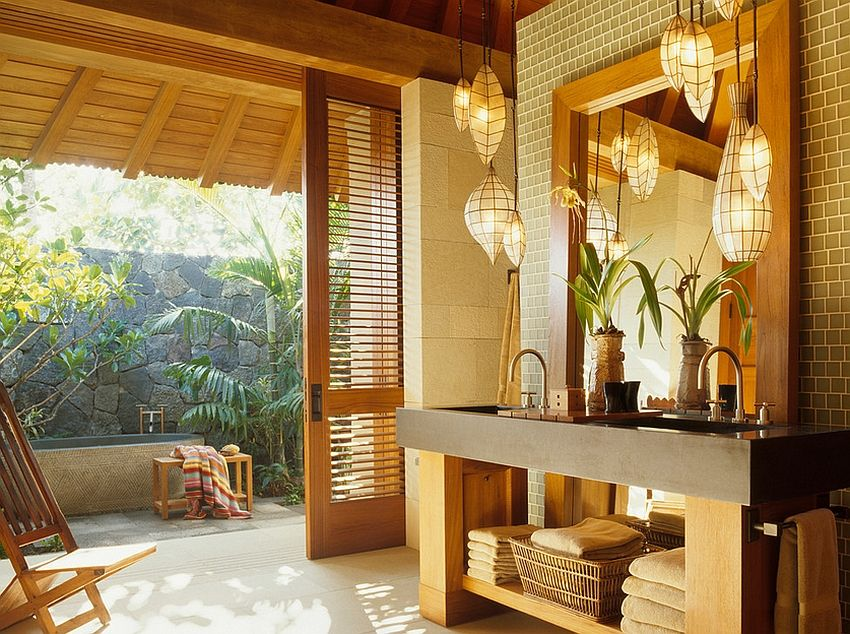 23 Amazing Inspirations That Take The Bathroom Outdoors Outdoor