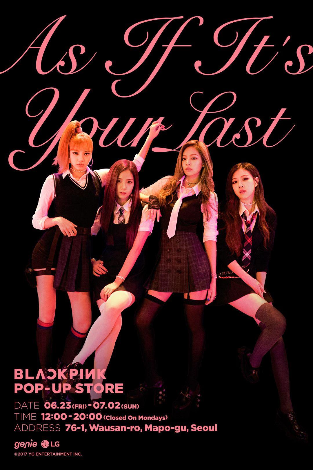 Blackpink Pop Up Store Blackpink Korean Girl Groups Yg