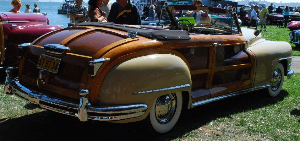 1947 chrysler town country beige convertible w wood. Black Bedroom Furniture Sets. Home Design Ideas