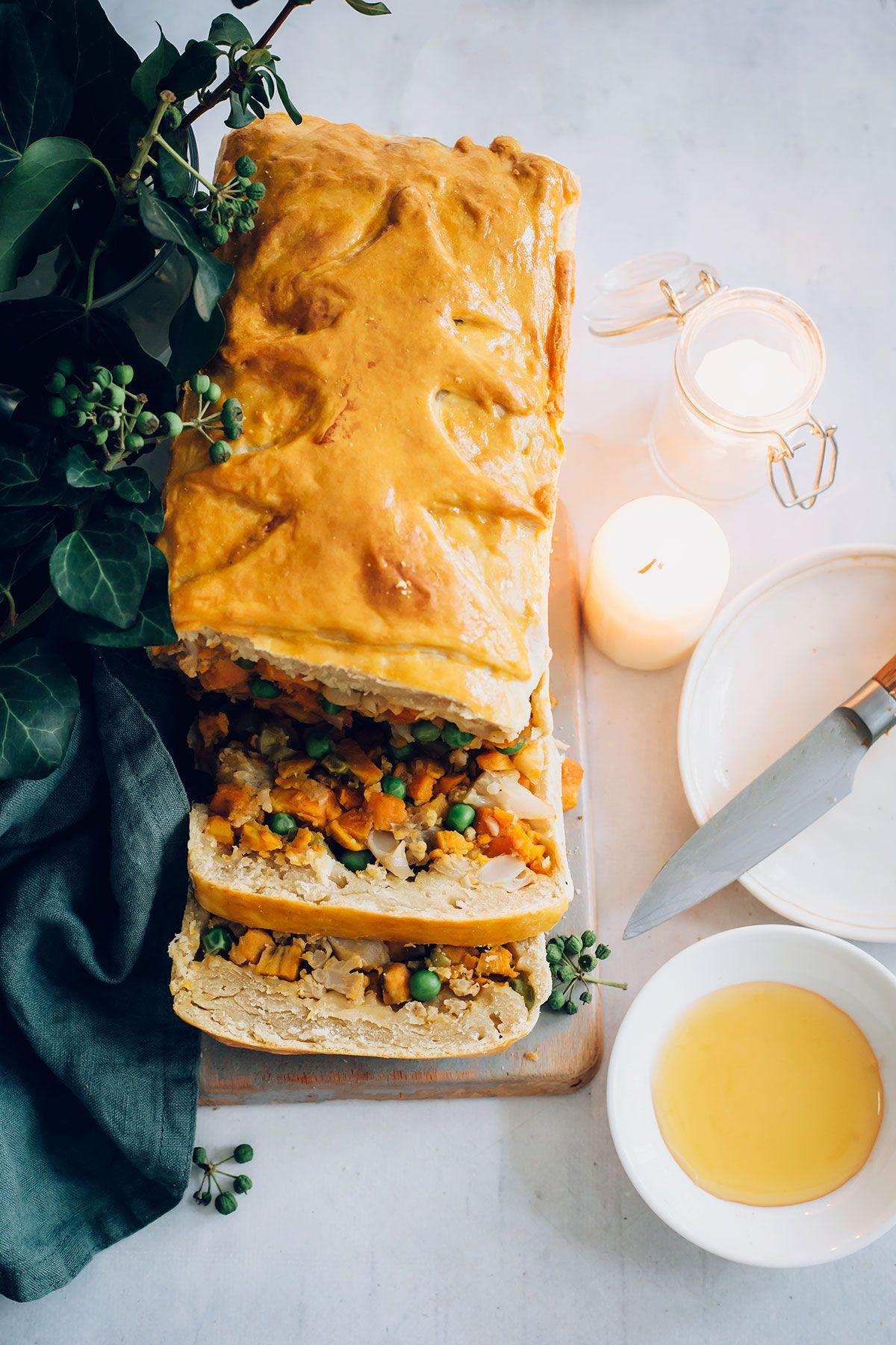 Festive Sweet Potato Samosa Pie Hello Veggie Recipe Vegan Chicken Pot Pie Vegetarian Dishes Mint Recipes