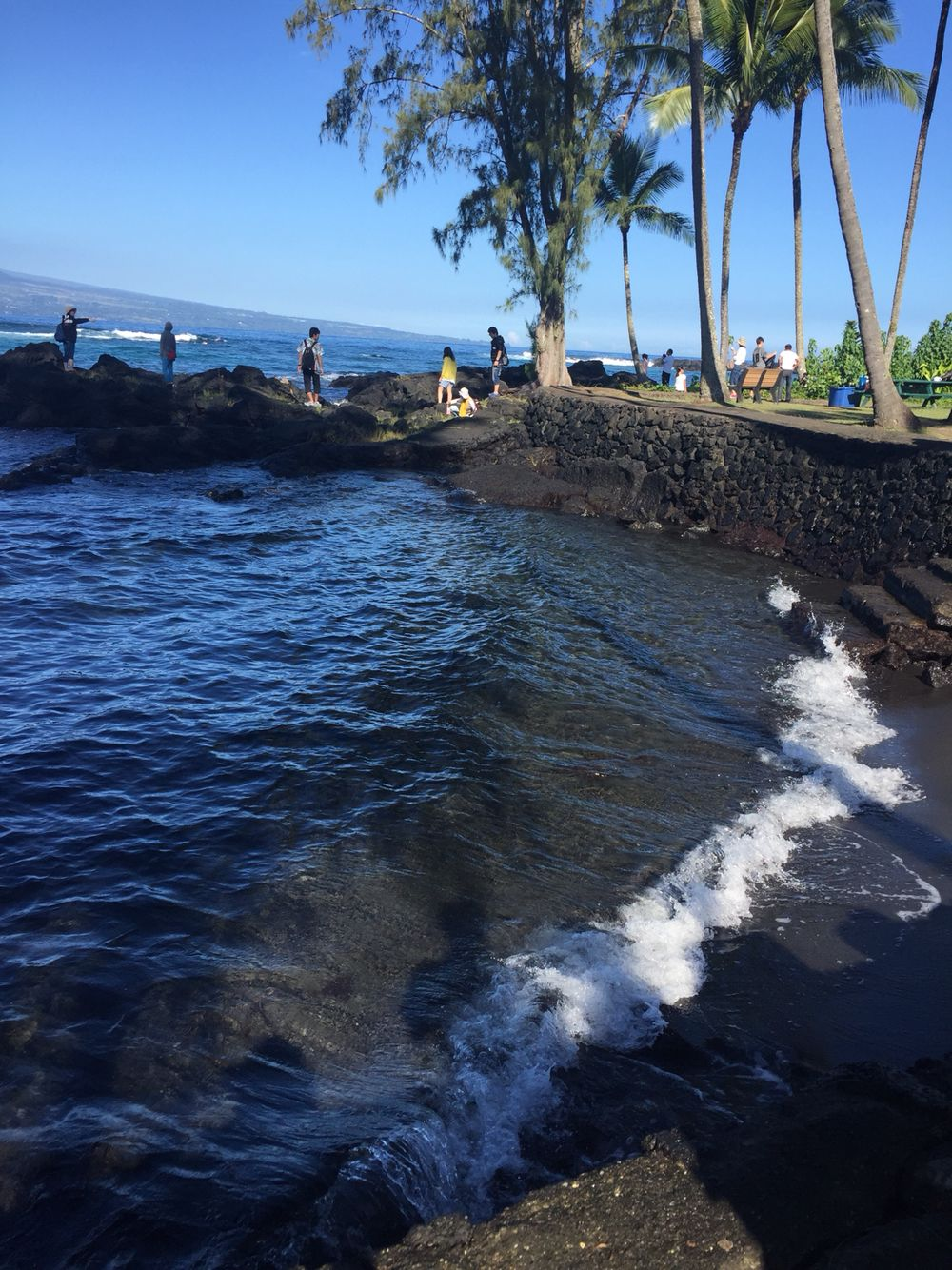 Black Sand Beach Hilo Hawaii