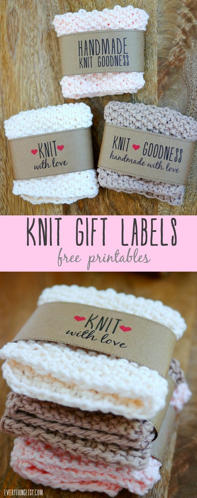 Free Printable Knit Gift Labels (Everything Etsy) | Knit gifts, Gift ...