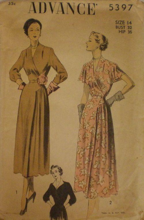 Vintage 1943 Advance Sewing Pattern No 3198-UNUSED