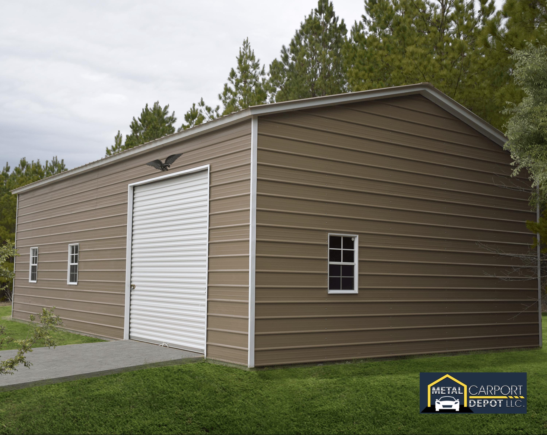 24 X 40 Metal Garage In 2020 Metal Carports Roof Siding Metal Garages