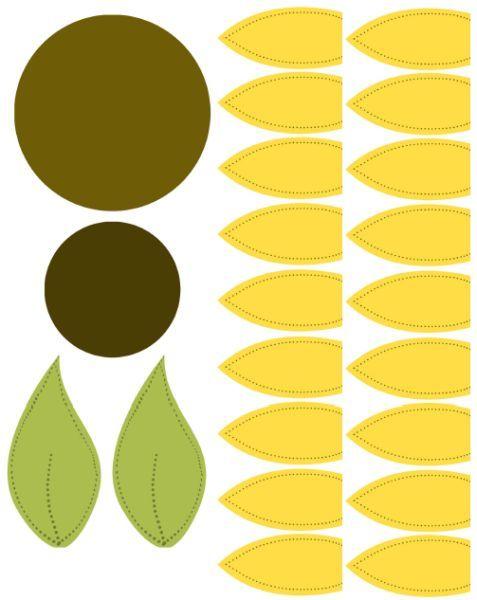 Muito molde girassol - Pesquisa Google | flores feltro | Pinterest  US82