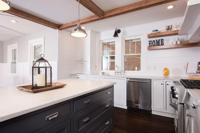 Charmant Kitchen Remodel; Indianapolis, IN; Meridian Kessler; Custom Cabinetry;  Custom Carpentry; Hardwood Flooring; Open Shelving; Pendant Lighting; ...