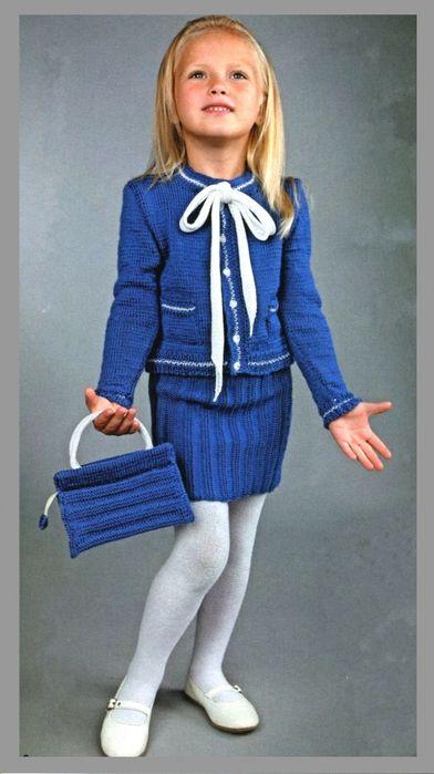 Синий комплект в стиле Шанель для девочки 4-5 лет. Обсуждение на LiveInternet - Российский Сервис Онлайн-Дневников