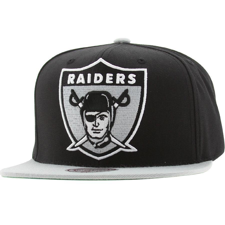 1560ed33bee67 Mitchell And Ness Oakland Raiders NFL XL Logo Snapback Cap (black   silver)  NJ40Z-6RAIDEBKS -  26.00