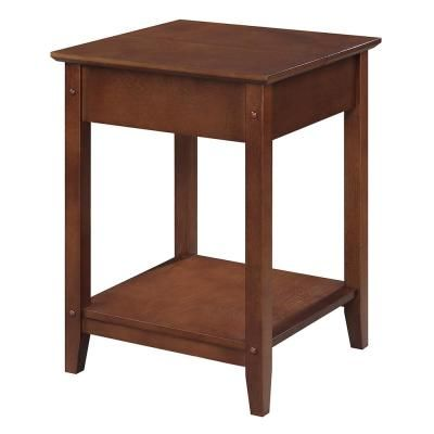 Convenience Concepts American Heritage Espresso Square Flip Top End Table Brown End Tables Espresso End Table Pink Home Decor