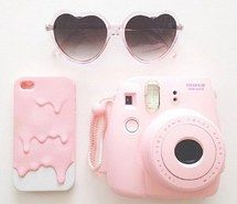 acessories, pink, asian, color, natural, camera, style, cute, fashion, korean, vintage, on trend, design, melting, girly,