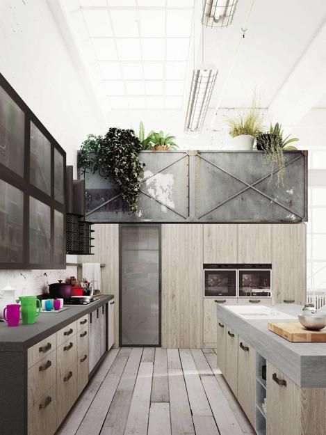 Easily Personalized Loft Kitchen Design In Industrial Style By Snaidero Loft Kitchen Industrial Style Kitchen Modern Kitchen Interiors