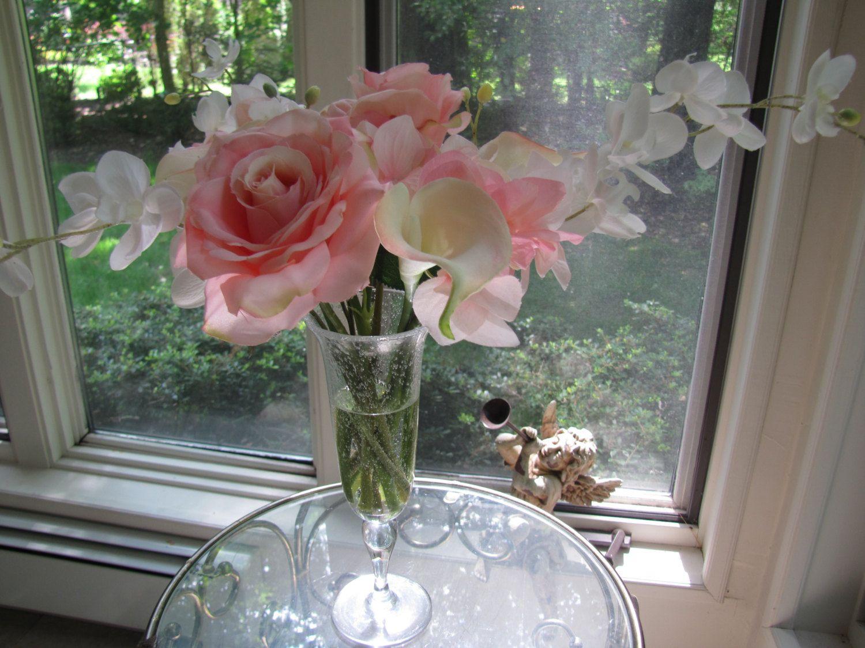Beautiful silk flower arrangement pink rose pink calla lilypink flower beautiful silk flower arrangement pink rose pink calla lily dhlflorist Images