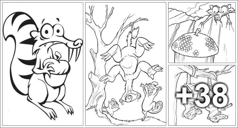 Dibujos Para Colorear La Era De Hielo Dibujos Dibujos
