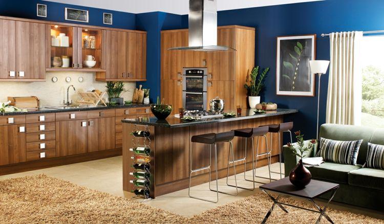 farbe fur kuche kuchenwand streichen, farbe für küche – küchenwand in kontrastfarbe streichen | küche, Design ideen