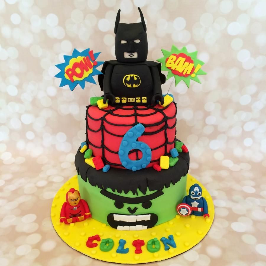 Lego superheroes  - Cake by Sweet cakes by Jessica