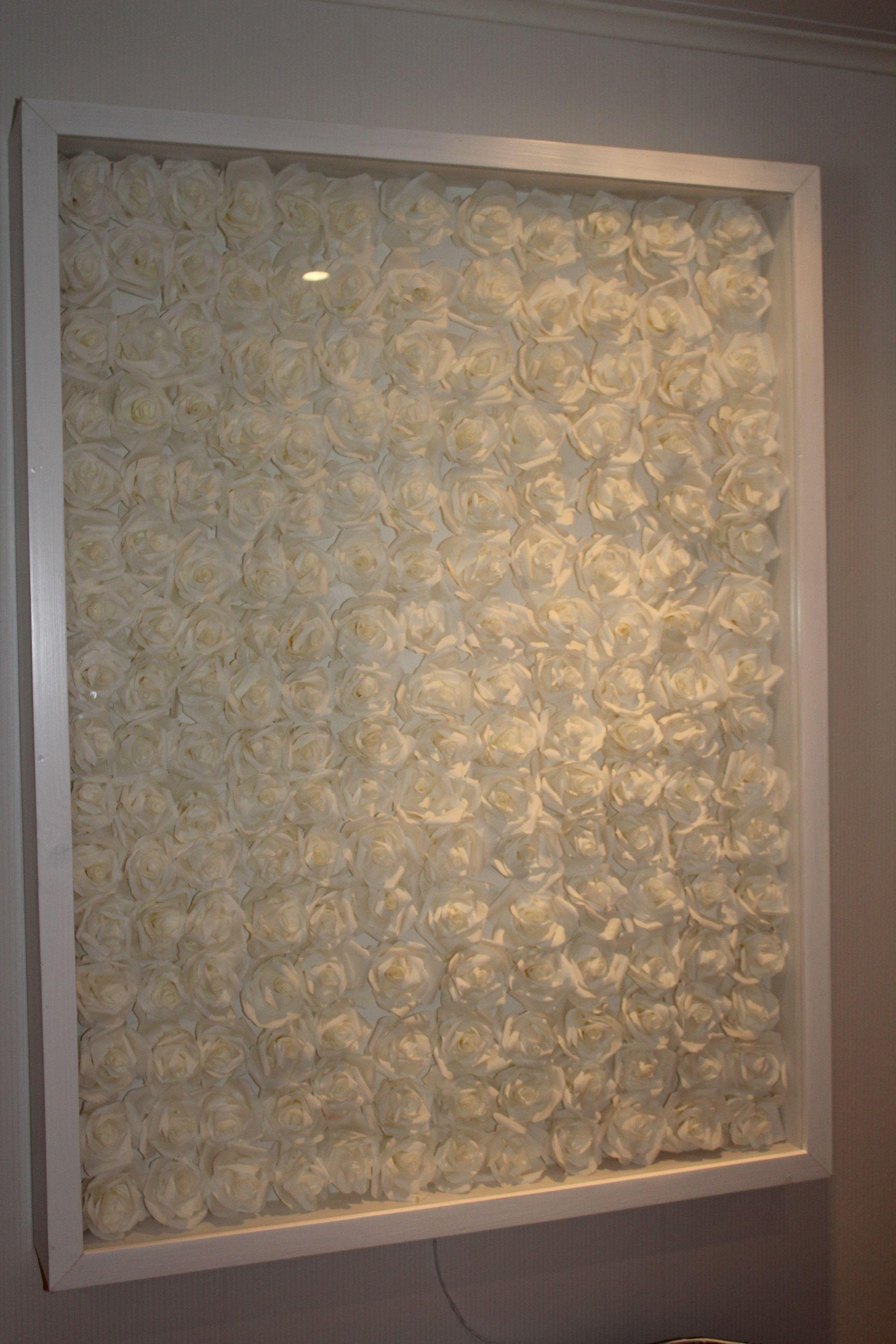 suodatinpussiruusuista tehty valotaulu