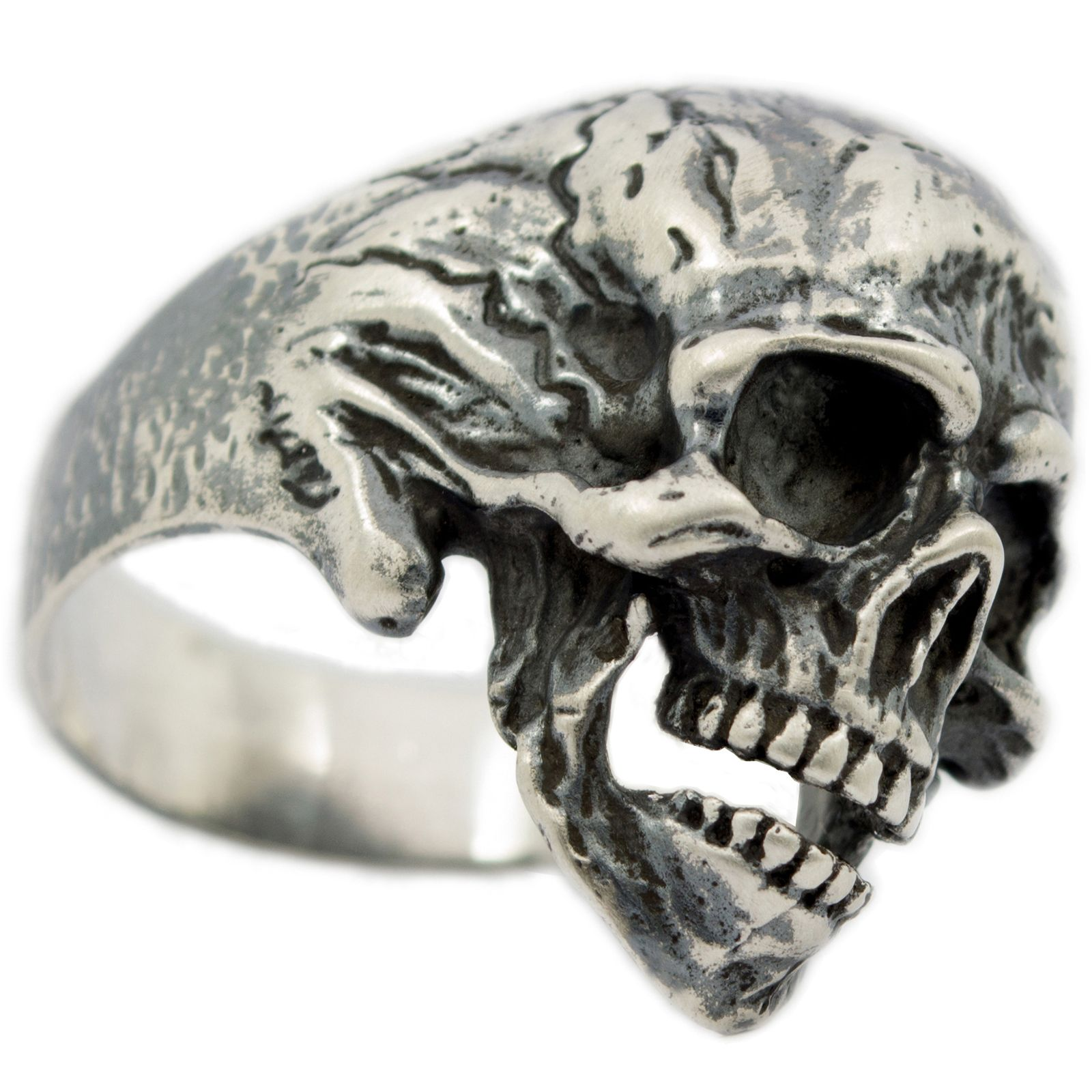 stainless pertaining biker hand rings mens ideas engagement wedding ring gothic skull to skeleton