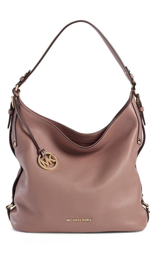 taupe leather hobo