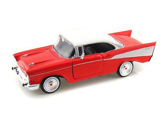 Chevrolet Chevy Bel air 1/24 Diecast Model Red & by HayranModels