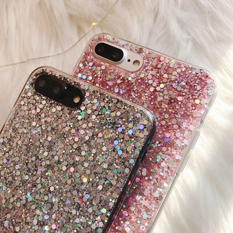 iphone xr case glitter water