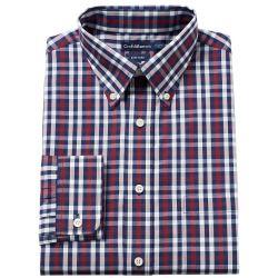 """2237928_Burgundy%3Fwid%3D800%26hei%3D800%26op_sharpen%3D1 Best Deal """"Big & Tall Van Heusen ClassicFit Flex Collar Dress Shirt"""