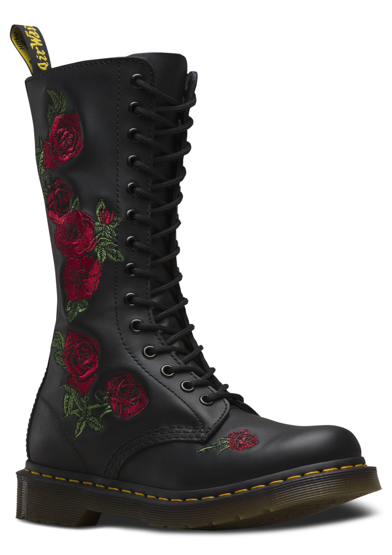 Vonda Embroidery Femmes Combat Boots Dr. Vonda Broderie Femmes Bottes De Combat Dr. Martens Martens RXaCDR