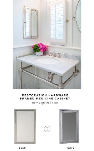 restoration-hardware-framed-inset-medicine-cabinet | Pinterest ...