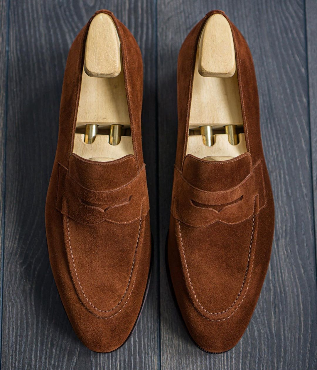 Men/'s brown Suede Slip On Dress Shoes Loafers Formal By lime shoes