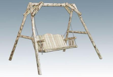 Montana Lodge log yard swing