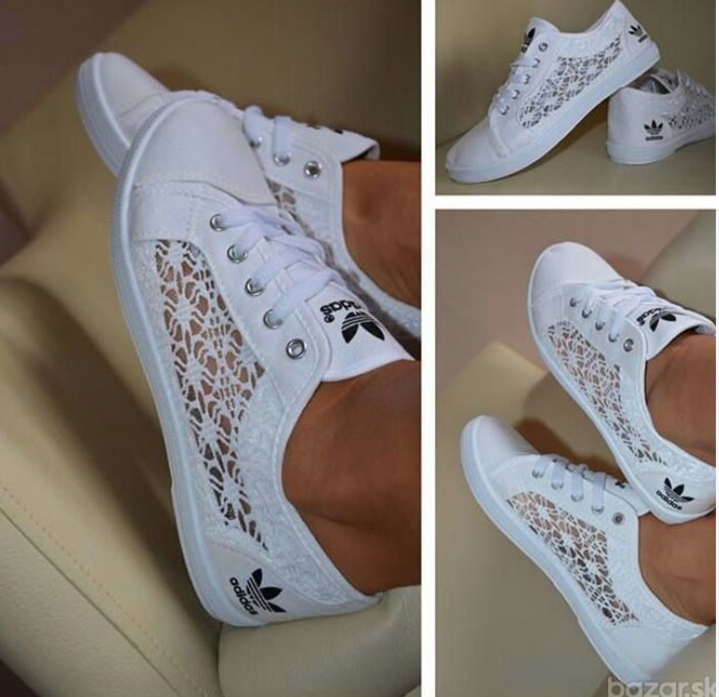 Novelista dañar Papá  Pin by Anahi Arriaga on Dressing | Lace adidas, Lace adidas shoes, White  lace shoes