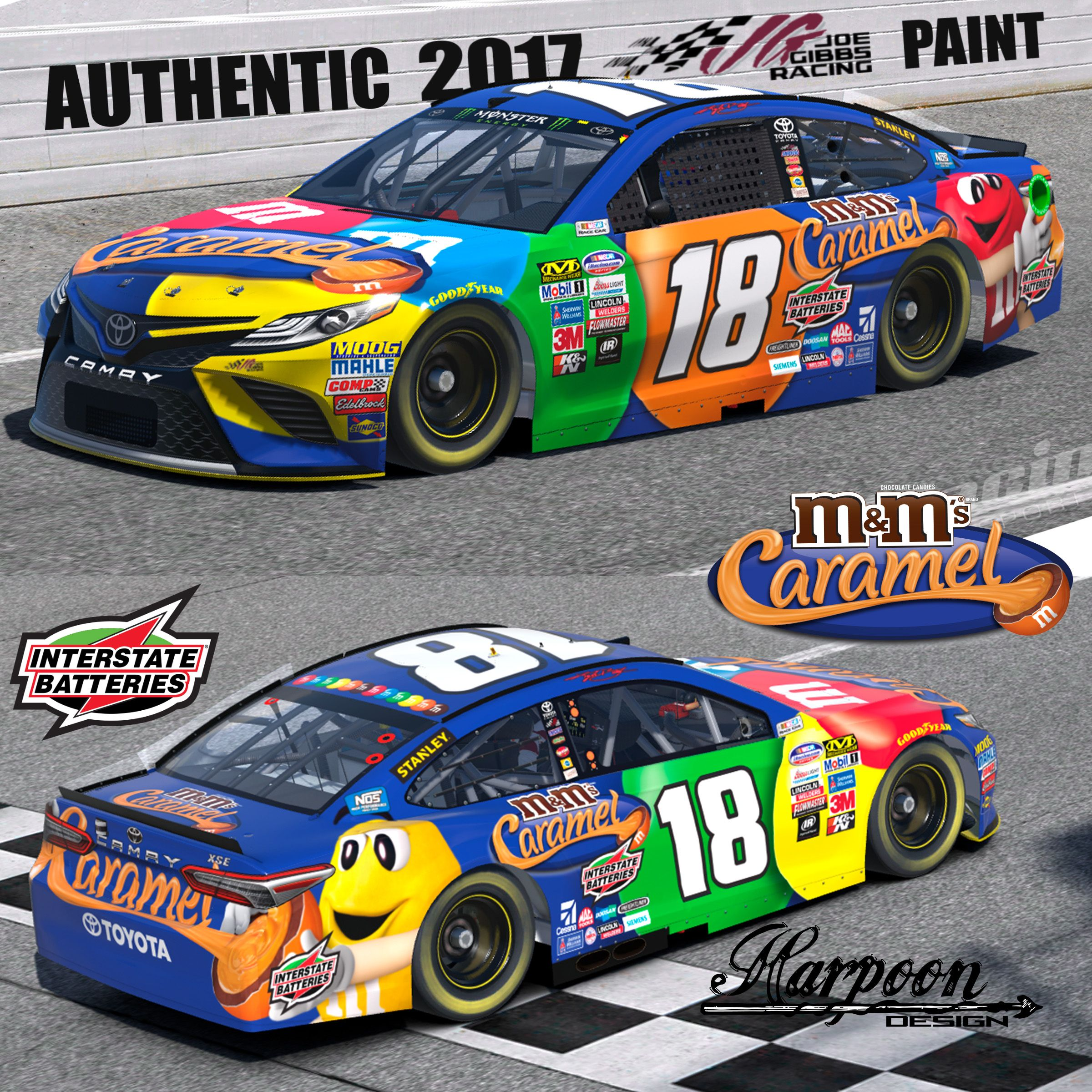 2017 Authentic JGR Kyle Busch M&M Camry