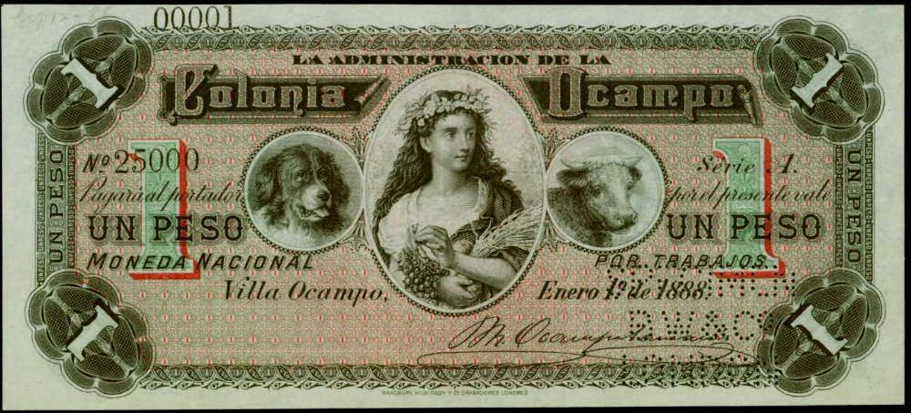 Mexico Banknotes 100 Pesos Banknote El Banco Oriental De Mexico Billetes Papel Moneda Monedas