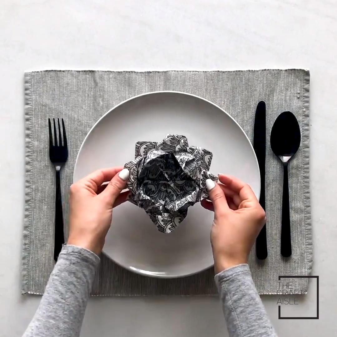 DIY Serviette faltet 3 Wege