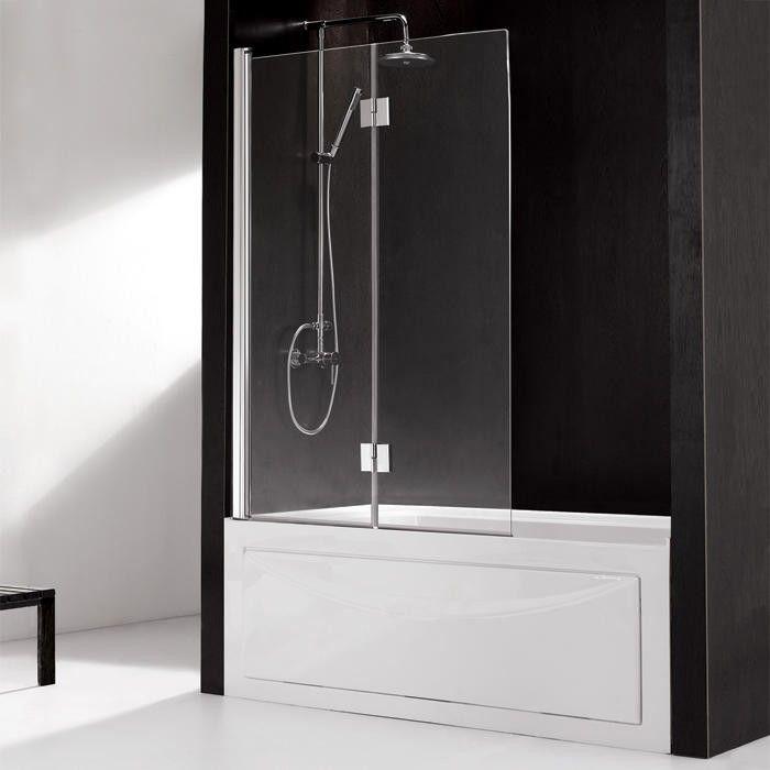 Hinged European Glass Bathtub Screen - Glass Shower Enclosures ...