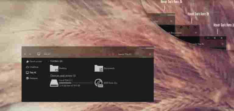 Hover Dark Aero Theme For Windows 10 Free Download | Windows 10