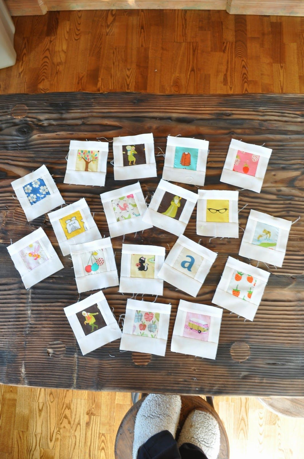 polaroid quilt blocks with link to tutorial