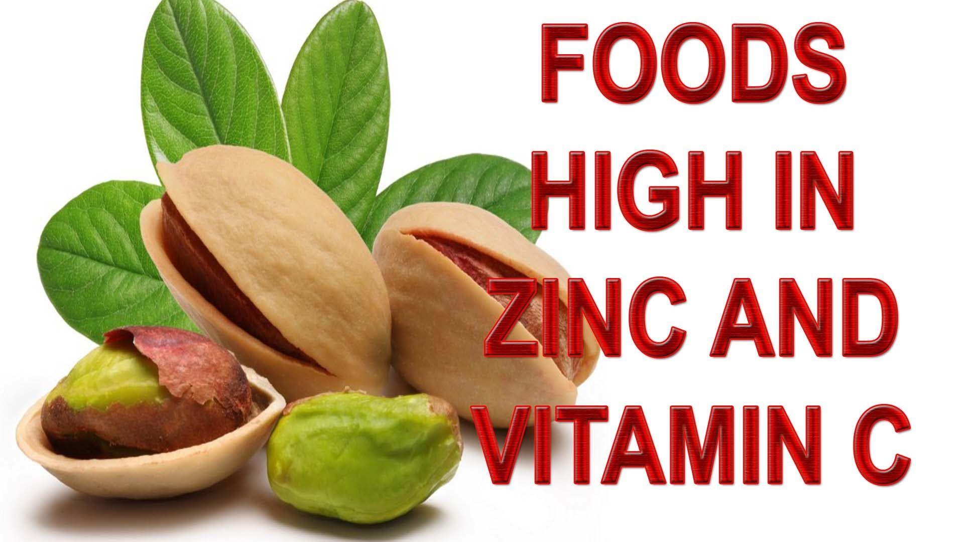 foods high in zinc and vitamin C foods high in zinc