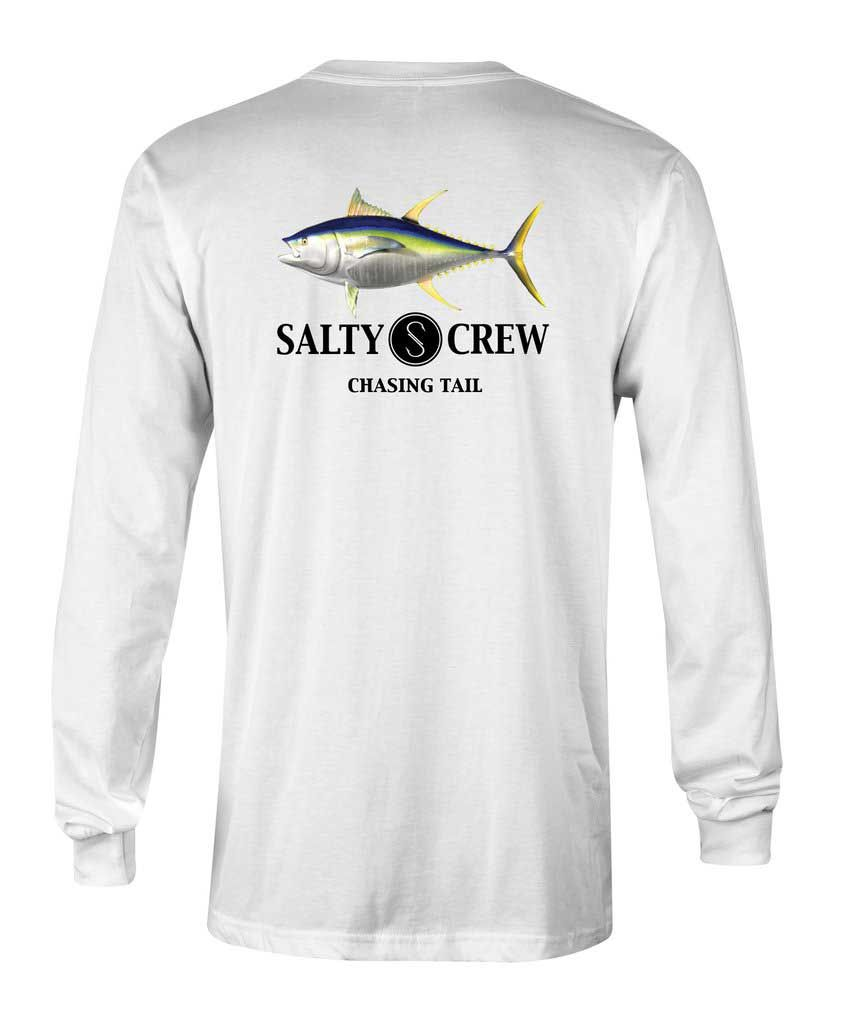 premium selection 70ee3 9bb43 Salty Crew Ahi Fish Tech Long Sleeve Tee for Men in White 121721-WHT