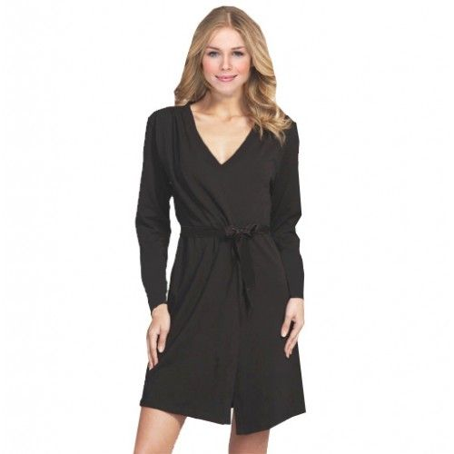 Ladies black colour lightweight kimono #robe ideal for summer or during #wedding_nights