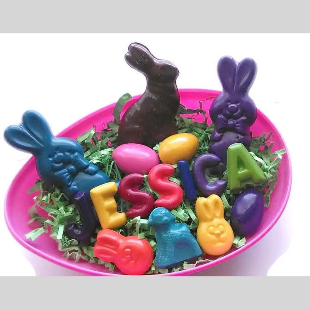Make this years easter basket special with personalized easter make this years easter basket special with personalized easter themed crayons negle Choice Image