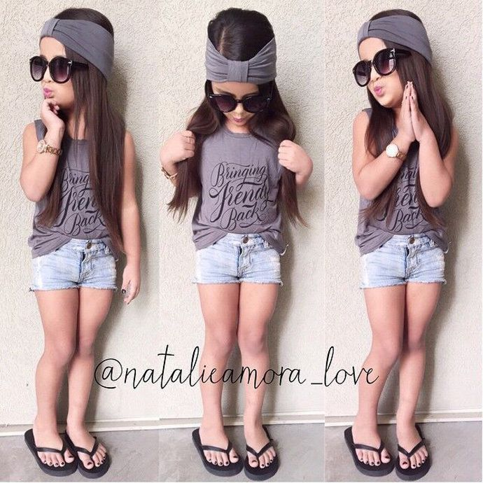 32331dcabdd5d Baby girl clothing set new fashion 2015 summer children clothing T shirt +  denim pant+ headband princess vetement enfant fille. 2015 girls clothing  sets ...